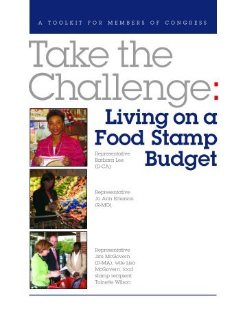 Take the Challenge: Living on a Food Stamp Budget