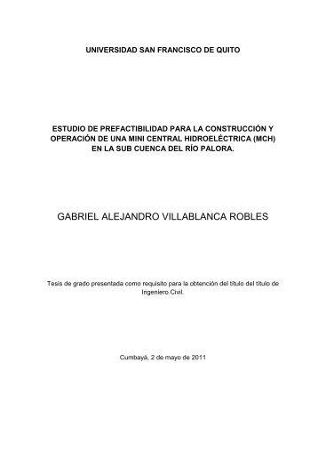 Gabriel tesis - Repositorio Digital USFQ - Universidad San ...