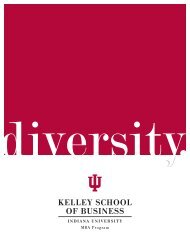 Diversity. - Kelley School of Business - Indiana University