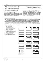 RF transmitting transistor and power amplifier ... - Rfoe.net