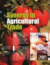 Synergy in Agricultural Trade