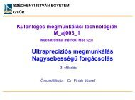 Ultrapreciziós megmunkálás - Széchenyi István Egyetem