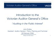 Introduction to the Victorian Auditor-General's Office - VAGO