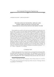 The influence of municipal sewage and humic substances on ...