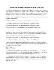 SOUTHSIDE HAWKS COMPETITIVE BASKETBALL ... - DragonNet