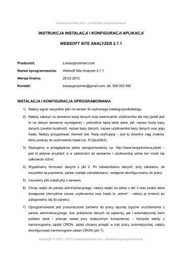 instrukcja instalacji i konfiguracji aplikacji websoft ... - img1.oferia.pl