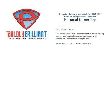 Elementary Campus Improvement Plan 2012-2013 - Amazon Web ...