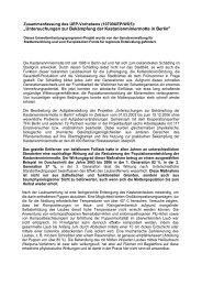 Untersuchungen zur Bekämpfung der Kastanienminiermotte in Berlin
