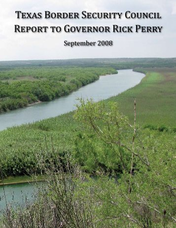 Border Security Council Report - Office of the Governor - Rick Perry