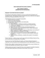 F9 Procedures - South Burlington School District - Website