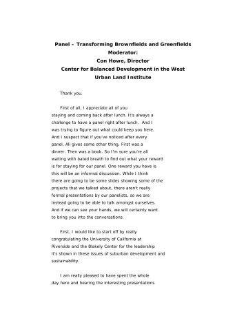 Transcript - Center for Sustainable Suburban Development