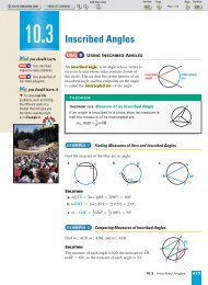 10-3 Inscribed Angles - Nexuslearning.net