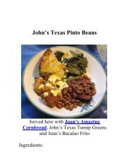 John's Texas Pinto Beans - The Geriatric Gourmet
