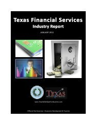 Texas Financial Services Industry Report - Office of the Governor ...