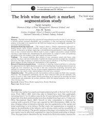 The Irish wine market: a market segmentation study