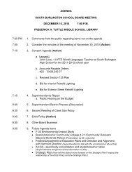December 15, 2010 - South Burlington School District