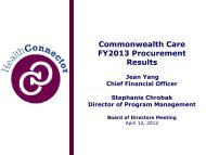 Commonwealth Care MCO Procurement - Commonwealth Connector