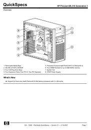 HP ProLiant ML310 Generation 3 - VB