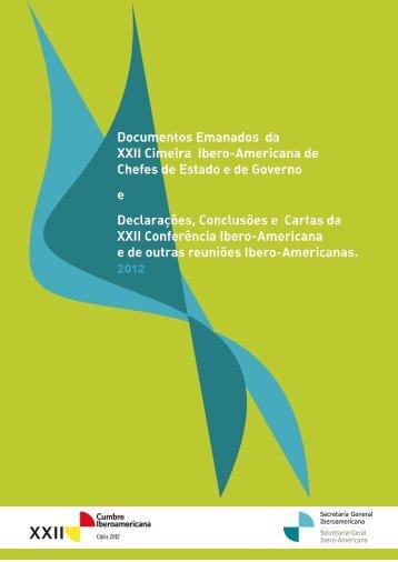 Documentos Emanados da XXII Cimeira Ibero-Americana ... - Segib