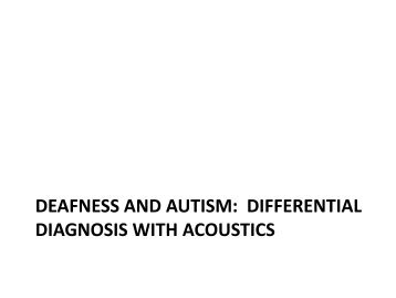 Autism and Deaf