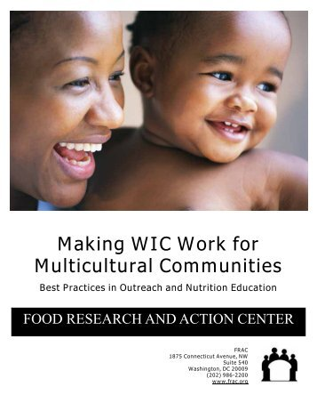 Making WIC Work for Multicultural Communities - Food Research ...