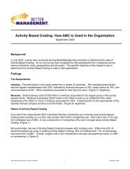 Activity Based Costing: How ABC is Used in the ... - Costkiller