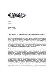 STATEMENT BY THE PRESIDENT OF THE SECURITY COUNCIL