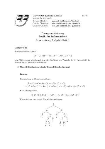 Lösungen zu Blatt 8