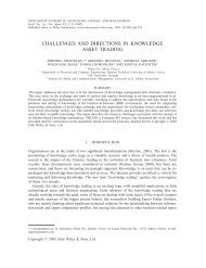 Challenges and directions in knowledge asset trading - Information ...