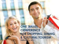 one travel conference for shopping, dining & cultural tourism