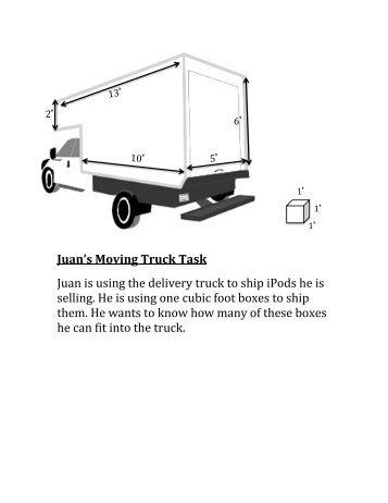 Moving Truck Worksheet
