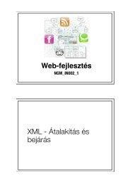 XML - Átalakítás és bejárás