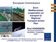 Roel Höenders, Responsible of Transport, DG AIDCO A3 - CMI