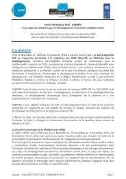 Agenda de l'Atelier stratégique 2010 ISI@MED - CMI
