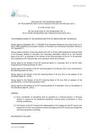 Decision on amendment No 3 to Annual Work Programme and ...
