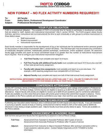2012-2013Flex forms.pdf - Faculty.piercecollege.edu - Pierce College