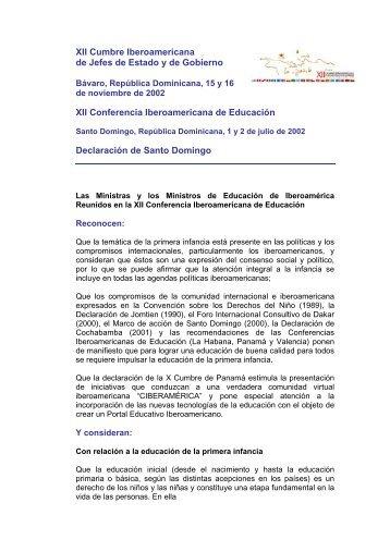 XII Conferencia Iberoamericana de Educación - Segib