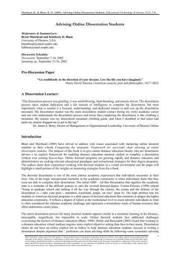 Dissertation on educational technology
