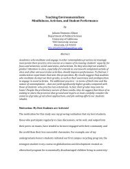 Teaching Environmentalism: Mindfulness, Activism, and Student ...