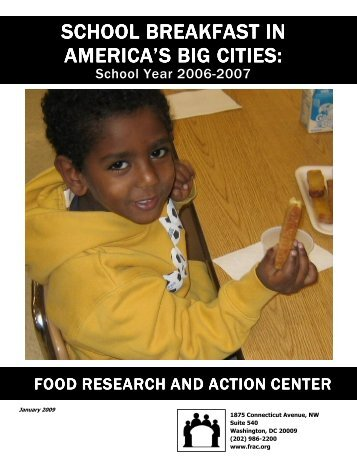 School Breakfast in America's Big Cities - Food Research and Action ...
