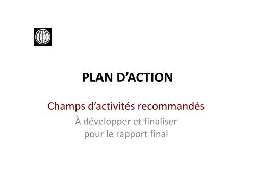 PLAN D'ACTION - CMI