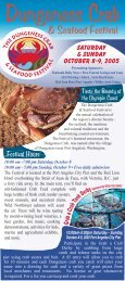 Crabfest Rack Card2 - Dungeness Crab & Seafood Festival