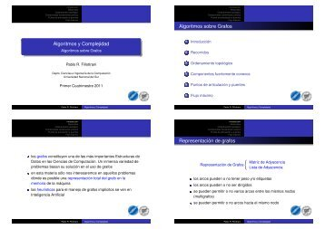 Algoritmos sobre Grafos - Departamento de Ciencias e Ingeniería ...