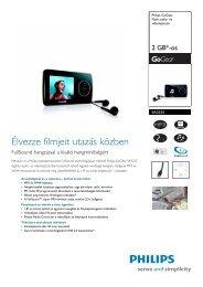 SA3225/02 Philips Flash audio- és videolejátszó