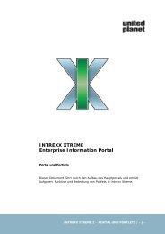 INTREXX XTREME Portal und Portlets