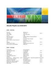 Samstag Mix 08.06.2013