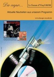 Le Forum d´Vinyl Ausgabe August 2008 - Da capo