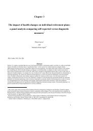 Chapter 3 The impact of health changes on individual retirement ...
