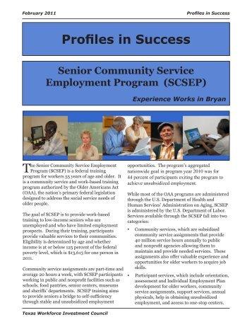 Profiles in Success Senior Community Service Employment Program