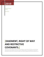 Easement, Right Of Way and Restrictive Covenants. - Ubertor